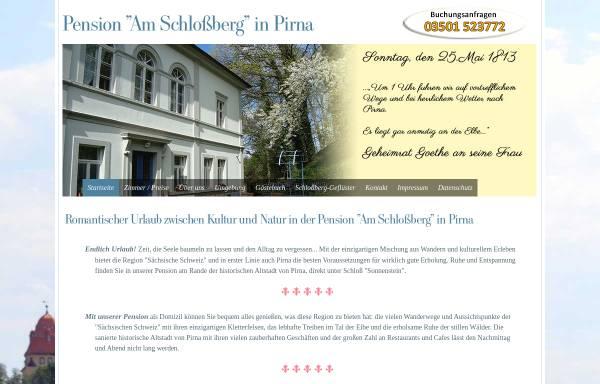 Vorschau von www.pension-pirna-saechsische-schweiz.de, Pension Am Schlossberg