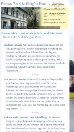 Vorschau der mobilen Webseite www.pension-pirna-saechsische-schweiz.de, Pension Am Schlossberg