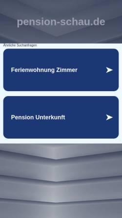 Vorschau der mobilen Webseite www.pension-schau.de, Pension und Eisgarten Schau