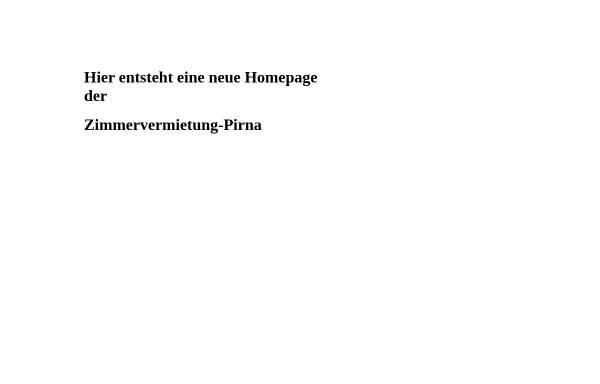 Vorschau von www.urlaub-in-pirna.de, Zimmervermietung Fam. Schreiber