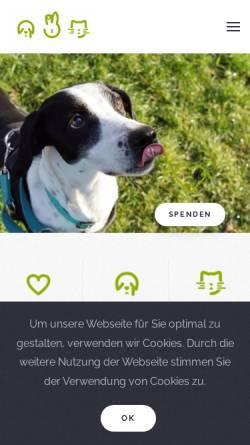Vorschau der mobilen Webseite www.tierheim-mannheim.de, Tierheim Mannheim
