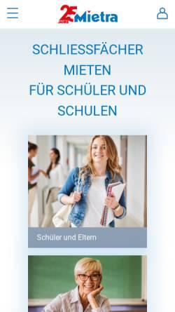 Vorschau der mobilen Webseite www.schliessfaecher.de, Mietra Schließfachanlagen GmbH