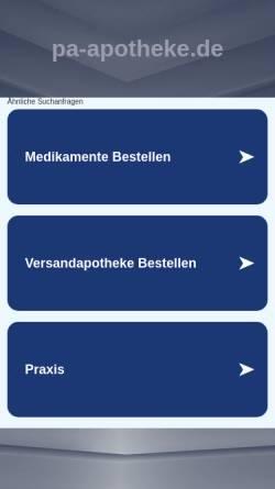 Vorschau der mobilen Webseite www.pa-apotheke.de, Park-Apotheke Hannelore Kahl