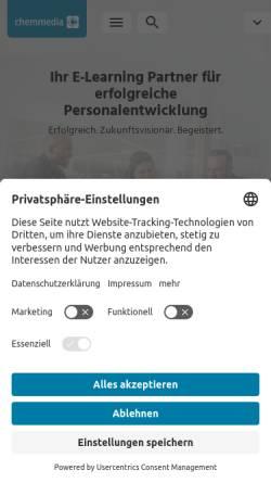 Vorschau der mobilen Webseite www.chemmedia.de, chemmedia AG