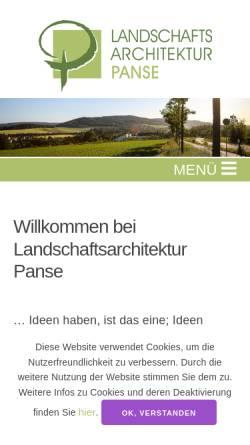 Vorschau der mobilen Webseite www.la-panse.de, Landschaftsarchitektur Panse - Generalplaner