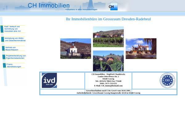 Vorschau von www.ch-immobilien-dd.de, CH-Immobilien - Siegfried Chankiewitz