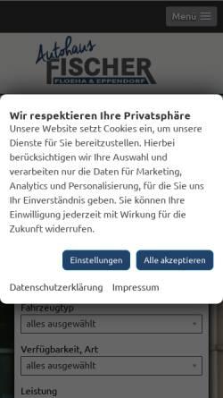 Vorschau der mobilen Webseite www.autohausfischer.de, Autohaus Fischer