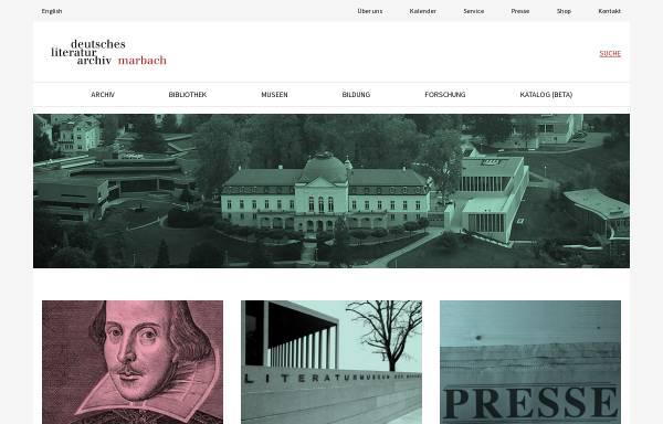 Vorschau von www.dla-marbach.de, Deutsches Literaturarchiv