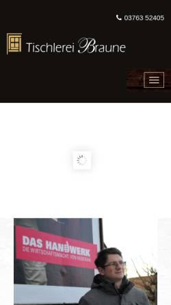 Vorschau der mobilen Webseite www.tischlerei-braune.de, Tischlerei Braune