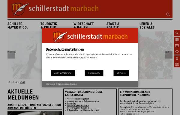Vorschau von www.schillerstadt-marbach.de, Schillerstadt Marbach