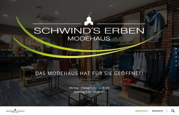 Vorschau von www.modehaus-schwind.de, Modehaus Schwind's Erben