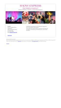 Vorschau der mobilen Webseite www.show-express.de, Show-Express Entertainment