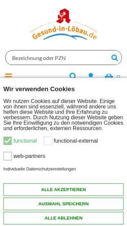 Vorschau der mobilen Webseite www.alte-apo-loebau.de, Die Alte Apotheke Löbau