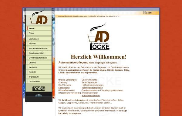 Vorschau von www.automaten-locke.de, Automaten Locke