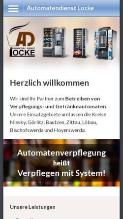 Vorschau der mobilen Webseite www.automaten-locke.de, Automaten Locke