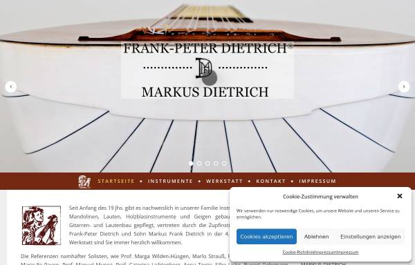 Vorschau von www.gitarre-laute.de, Meisterwerkstatt Dietrich