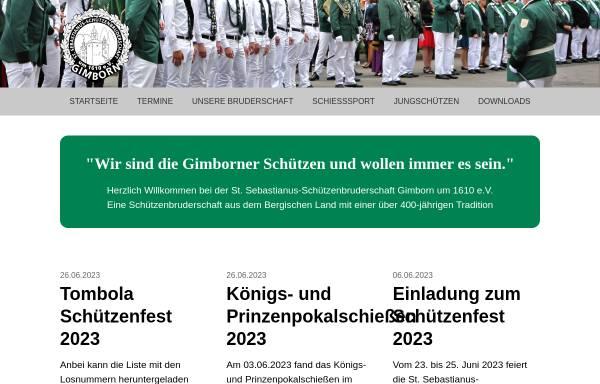 Vorschau von www.st-sebastianus-gimborn.de, Sankt Sebastianus-Schützenbruderschaft Gimborn um 1610 e.V.