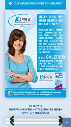 Vorschau der mobilen Webseite www.hempelt.de, Hempelt Karosserie u. Fahrzeugbau