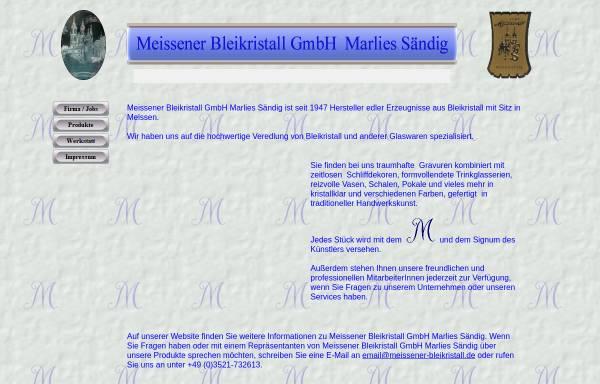 Vorschau von www.meissener-bleikristall.de, Meissener Bleikristall GmbH