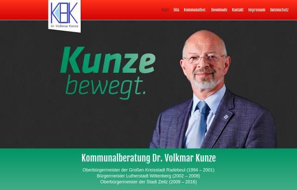 Vorschau von www.volkmar-kunze.de, Kommunalberatung Dr. Volkmar Kunze