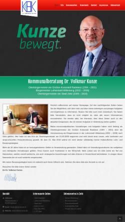 Vorschau der mobilen Webseite www.volkmar-kunze.de, Kommunalberatung Dr. Volkmar Kunze