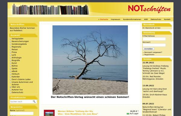 Vorschau von www.notschriften.com, Verlag NOTschriften Radebeul