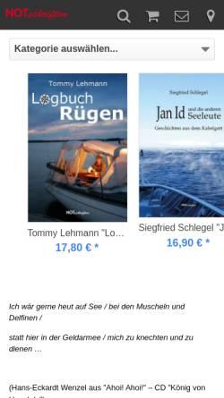 Vorschau der mobilen Webseite www.notschriften.com, Verlag NOTschriften Radebeul