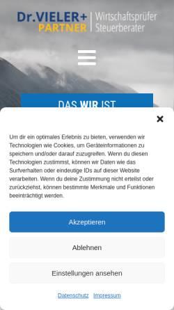 Vorschau der mobilen Webseite www.vieler-gbr.de, Dr. Vieler & Partner GbR
