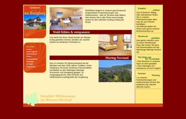 Vorschau von www.gaestehaus-schaefer.de, Gästehaus Am Honigberg