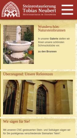 Vorschau der mobilen Webseite www.steinrestaurierung.de, Steinrestaurierung Neubert