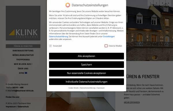 Vorschau von www.tischlerei-klink.de, Klink Tischlerei
