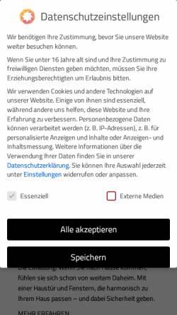 Vorschau der mobilen Webseite www.tischlerei-klink.de, Klink Tischlerei