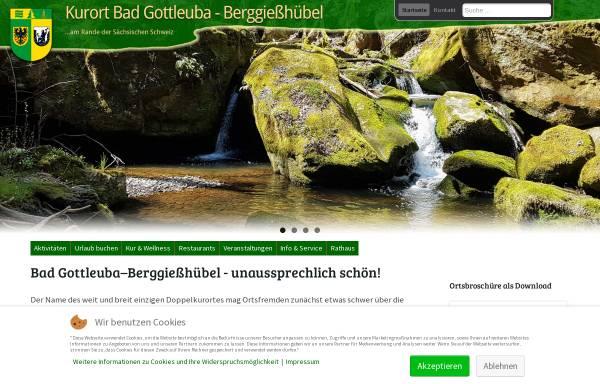 Vorschau von www.badgottleuba-berggiesshuebel.de, Bad Gottleuba-Berggießhübel