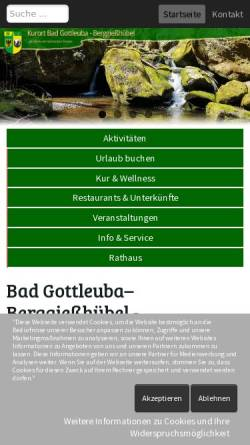 Vorschau der mobilen Webseite www.badgottleuba-berggiesshuebel.de, Bad Gottleuba-Berggießhübel