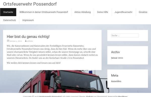 Vorschau von www.feuerwehr-possendorf.de, Freiwillige Feuerwehr Possendorf
