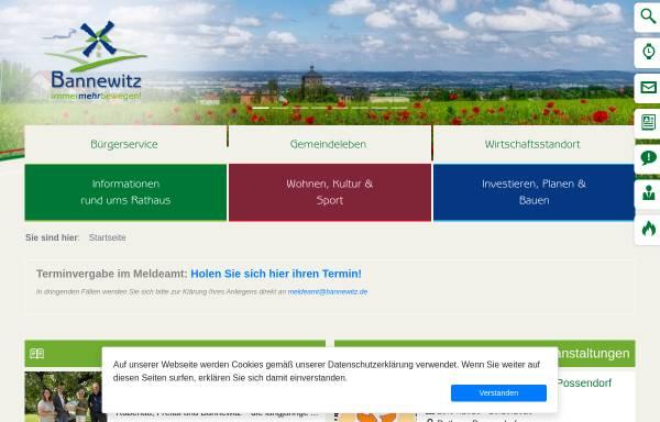 Vorschau von www.bannewitz.de, Gemeinde Bannewitz