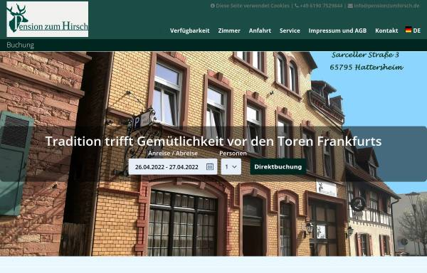 Vorschau von www.pensionzumhirsch.de, Pension zum Hirsch