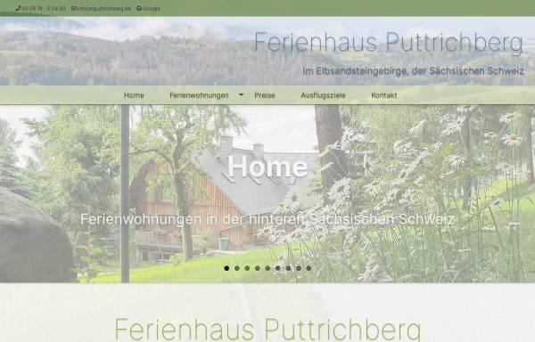 Vorschau von www.ferienhaus-puttrichberg.de, Urlaub im Ferienhaus Puttrichberg
