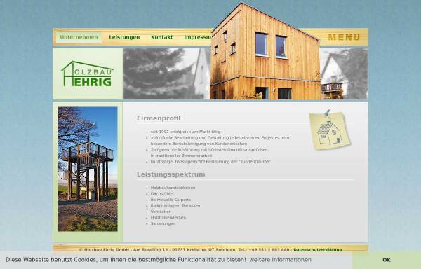 Vorschau von www.holzbau-ehrig.de, Holzbau-Ehrig GmbH