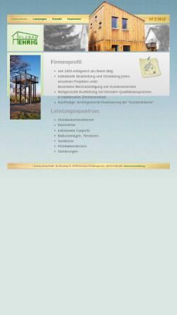 Vorschau der mobilen Webseite www.holzbau-ehrig.de, Holzbau-Ehrig GmbH