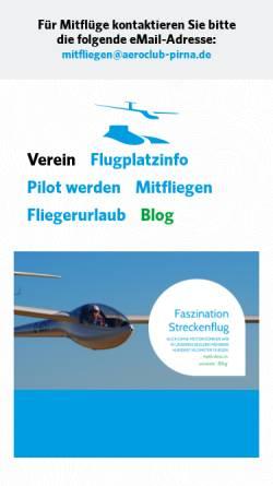Vorschau der mobilen Webseite www.aeroclub-pirna.de, Aeroclub Pirna