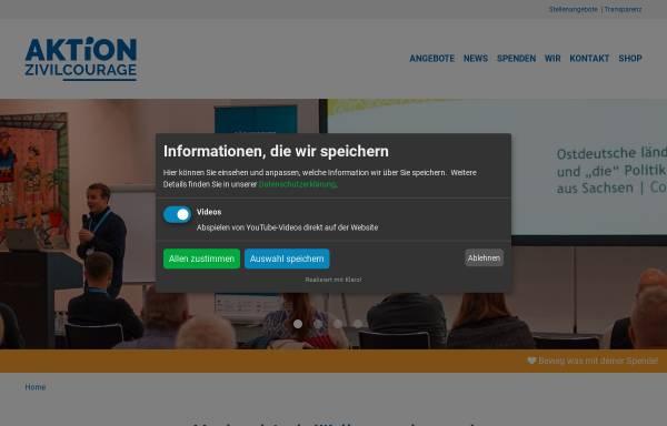 Vorschau von www.aktion-zivilcourage.de, Aktion Zivilcourage Pirna