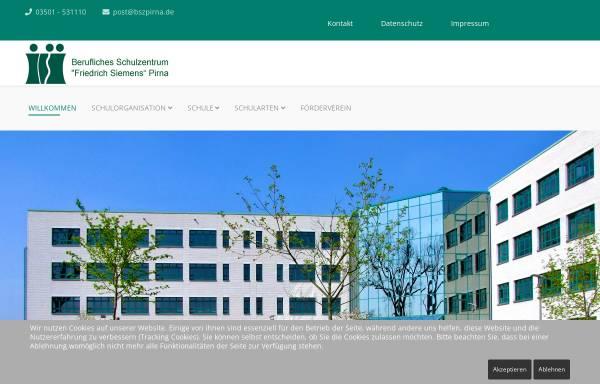 Vorschau von www.bszpirna.com, Berufliches Schulzentrum für Wirtschaft