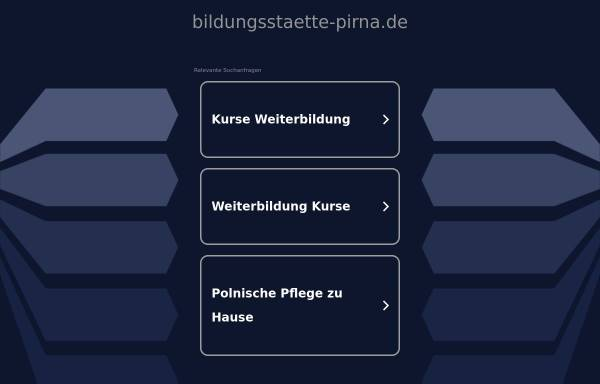 Vorschau von www.bildungsstaette-pirna.de, Bildungsstaette für Gesundheit und Soziales Pirna