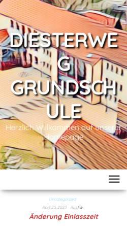 Vorschau der mobilen Webseite www.diesterweg-grundschule-pirna.de, Diesterweg-Grundschule Pirna-Copitz