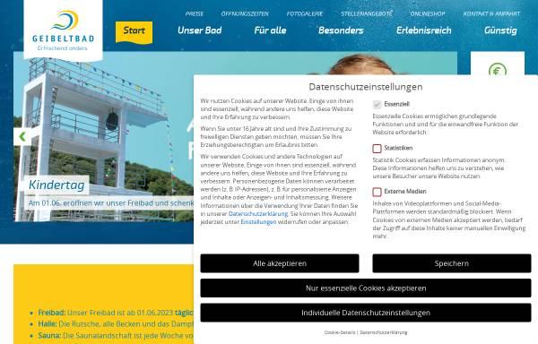 Vorschau von www.geibeltbad-pirna.de, Geibeltbad Pirna