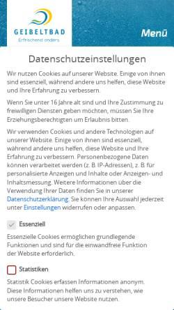 Vorschau der mobilen Webseite www.geibeltbad-pirna.de, Geibeltbad Pirna