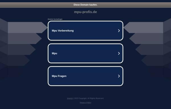 Vorschau von www.mpu-profis.de, Gregor - Arbeitsgemeinschaft Straßenverkehr