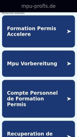 Vorschau der mobilen Webseite www.mpu-profis.de, Gregor - Arbeitsgemeinschaft Straßenverkehr
