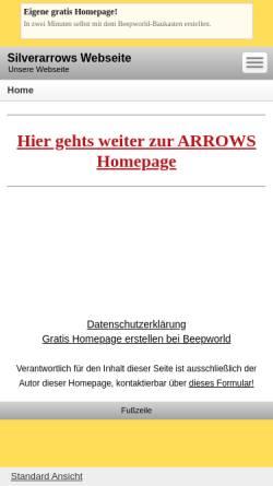 Vorschau der mobilen Webseite www.beepworld.de, Silver Arrows